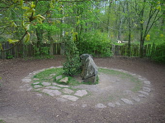 Merlin's tomb in the Brocéliande forest, Paimpont