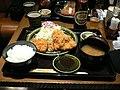 Tonkatsu set by cathykid in Tokyo.jpg