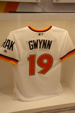 Tony Gwynn - Gwynn's jersey from 1984, when the Padres won their first pennant