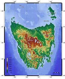 Tasmania-Geography-Topography of Tasmania