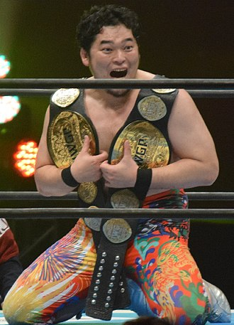 Toru Yano - Yano as one half of the IWGP Tag Team Champions in February 2017