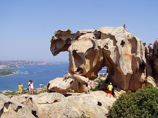 Tourists at Capo d'Orso, Palau, Sardinia, Italy