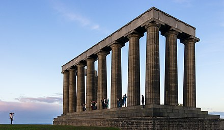 The National Monument of Scotland on Calton Hill in Edinburgh is the national memorial to Scottish soldiers lost in the Napoleonic Wars