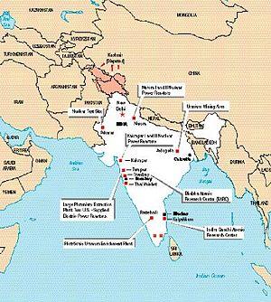 Pokhran-II - The US Marine Intelligence maps showing the Indian test site, 1997.