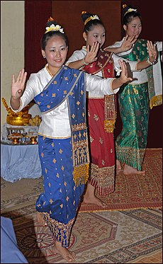 Traditional dance during Baci ceremeony in Lao.jpg