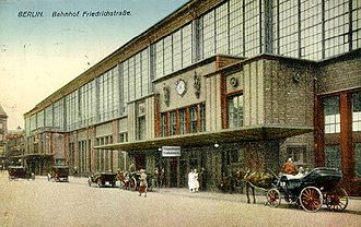 Berlin Friedrichstraße station - The south side of the remodeled station in 1926