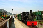 Trains at Porthmadog - ancient and modern.jpg