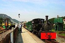 Trains at Porthmadog - ancient and modern.jpg