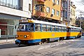 Tram in Sofia near Central mineral bath 2012 PD 060.jpg