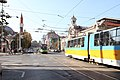 Trams in Sofia in front of Central Market Hall 2012 PD 09.JPG