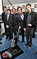 Trevor Moore, Timmy Williams, Darren Trumeter, Sam Brown and Zach Cregger with the LG Electronics Kompressor Vacuum on 25th Spirit Awards Blue Carpet held at Nokia Theatre L.A. Live on March 5, 2010 in LA.jpg