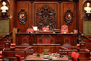 Senate (Belgium) - Seat of the presiding officers of the senate