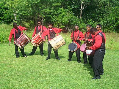 Tassa is a popular percussion ensemble of Indian origin that is popular in Trinidad and Tobago. Trinidad and Tobago Sweet Tassa.jpg