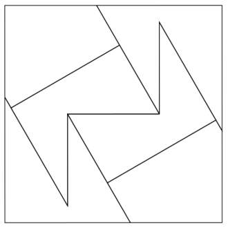 Square trisection - Square trisection using 6 pieces of same area (2010).
