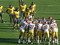 Trojans in huddle at USC at Cal 2009-10-03 1.JPG