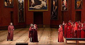 Salzburg Festival - Plácido Domingo, Francesco Meli, Anna Netrebko and Diana Haller in the new production of Il trovatore at the 2014 festival