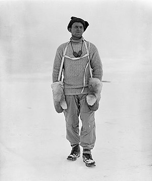 Tryggve Gran - Tryggve Gran in Antarctica (1911)