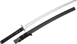 Japanese modern metal practice sword