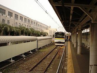 Umi-Shibaura Station - Image: Tsurumisen Umishibaura eki 3