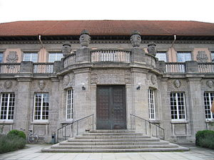 University Library of Tübingen - Entrance to the main library building, 2007