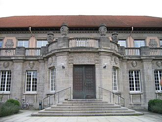 University of Tübingen - Entrance to the Historical Reading Room of the University Library of Tübingen