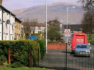 Tullibody town set in the Central Lowlands of Scotland