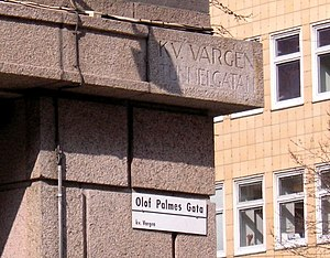 Tunnelgatan - Section of Tunnelgatan that has been renamed Olof Palme Street in memory of the assassination of Olof Palme.