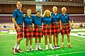 "Turin, Italy…2013 WMG medal presentations…the ""Kilted Kiwis""…65-A Team event Bronze medalists (10831274453).jpg"