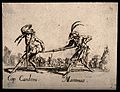 Two Commedia dell'arte street entertainers using a clyster a Wellcome V0011652.jpg