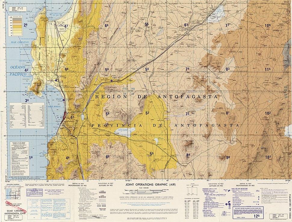 Map of Antofagasta's farms