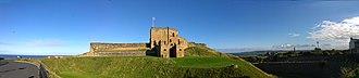 Tynemouth Castle and Priory - Image: Tynemouth Castle Panorama