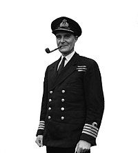 U-boat Hunter Number 1. 12 January 1944, the White House, Garston, Liverpool. Captain F J Walker, Cb, Dso, Rn, the Most Successful U-boat Hunter in the War. He Commanded the Second Escort Group. A21312A.jpg