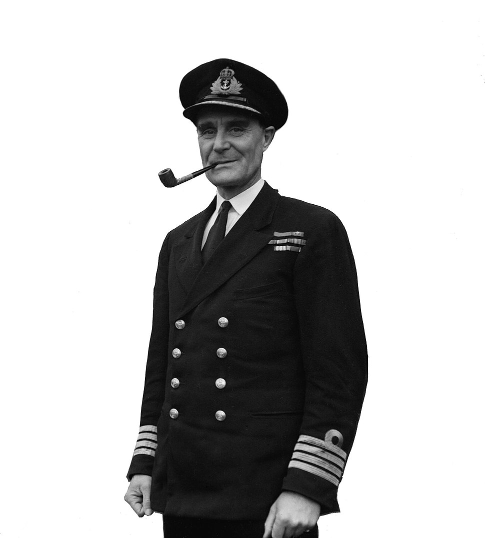 U-boat Hunter Number 1. 12 January 1944, the White House, Garston, Liverpool. Captain F J Walker, Cb, Dso, Rn, the Most Successful U-boat Hunter in the War. He Commanded the Second Escort Group. A21312A