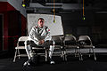U.S. Air Force Capt. Weston Kelsey, a supply officer with the 310th Force Support Squadron, sits in the fencing gym at the U.S. Olympic Training Center in Colorado Springs, Colo., June 8, 2012 120608-F-KC722-362.jpg