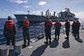 U.S. Sailors prepare for a replenishment at sea aboard the guided missile cruiser USS Philippine Sea (CG 58) in the Atlantic Ocean Feb. 23, 2014 140223-N-PJ969-025.jpg