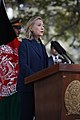 U.S. Secretary of State Hillary Rodham Clinton delivers remarks during a press conference with Afghan President Hamid Karzai at the presidential palace in Kabul, Afghanistan 111020-S-PA947-870.jpg