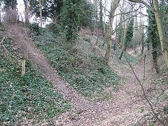 Burh - The burh wall at Wallingford, Oxfordshire.