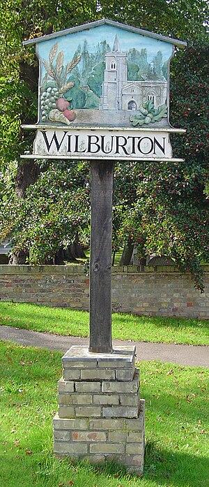 Wilburton - Signpost in Wilburton