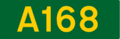 A168 road shield