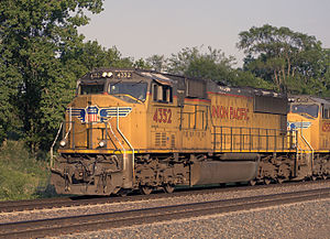 EMD SD70 series - UP SD70M no. 4352 at Fairbury, Nebraska in July 2014