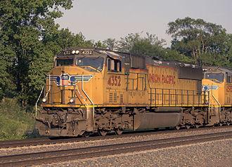 EMD SD70 series - UP SD70M no. 4352 at Fairbury, Nebraska in July 2014