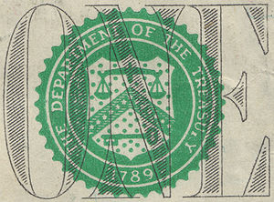 Symbols of the United States Department of the Treasury - Modern seal on a current $1 bill