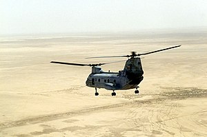 VMM-364 - An HMM-364 CH-46 over southern Iraq in 2003