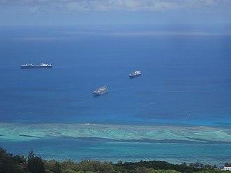 USNS Soderman (T-AKR-317) - USNS Soderman off the coast of Saipan.