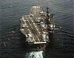 USS Saratoga (CV-60) underway in the Mediterranean Sea, 1976.jpg