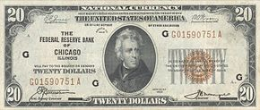 Andrew Jackson Series Of 1929 20 Bill