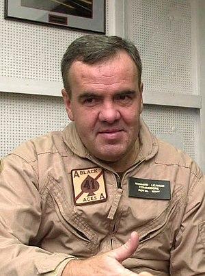 Richard Leaman - Leaman in 2003 during a briefing aboard USS ''Nimitz''
