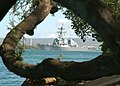 US Navy 050509-N-6775N-004 The guided missile destroyer USS Paul Hamilton (DDG 60) passes Hospital Point at Pearl Harbor.jpg