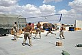 US Navy 070415-N-1269A-002 ailors of Electronic Attack Squadron (VAQ) 132 play a game of volleyball during some time off during their deployment to Al Asad Air Base.jpg
