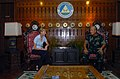 US Navy 071122-N-0900G-203 U.S. Ambassador for the Republic of the Philippines, Kristie A. Kenney, meets with Western Mindanao Command Chief Major General Nelson Allaga at Camp Navarro.jpg